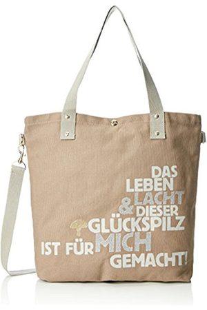 Adelheid Glückspilz M. Spruch Einkaufstasche, Women's Handbag, Braun (Taupe)