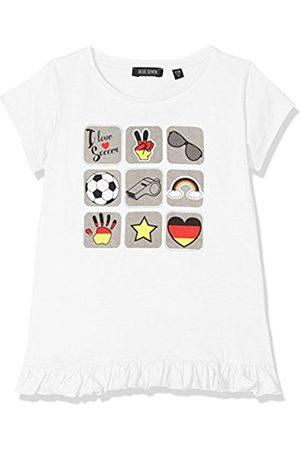 Blue Seven Girl's Rundhals T-Shirt, Weiß (I Love 001)