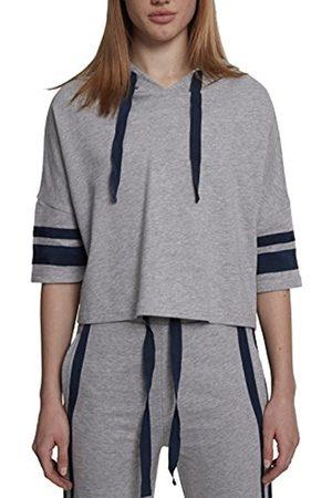 Urban classics Women's Ladies Taped Short Sleeve Hoodie