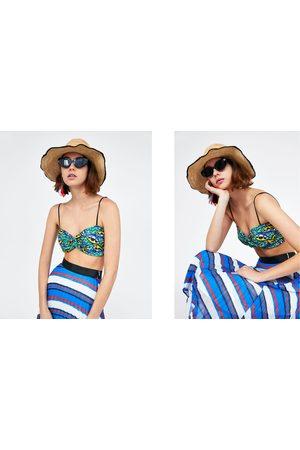Zara PRINTED BANDEAU TOP