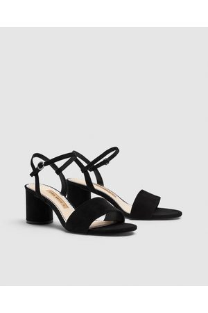 Faux Leather Patent Block Sandals Heel tdsQhCr