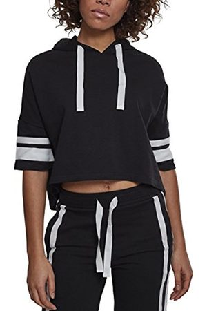 Urban classics Women's Ladies Taped Short Sleeve Hoodie