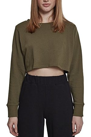 Urban classics Women's Ladies Terry Cropped Crew Jumper