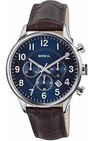 Breil Men's Contempo Watch Collection Mono-Colour Blue dial Chrono Quartz Movement and GEN. Calf Leather Strap TW1576