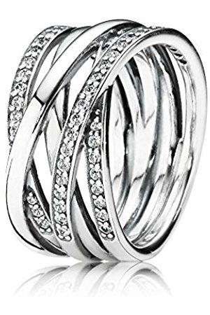Pandora Pearl Cubic Zirconia Ring - Size Q 190919CZ-58