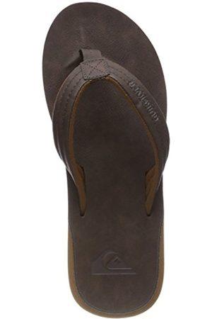 Quiksilver Men's Carver Nubuck Flip Flops, Braun (Demitasse-Solid Ctk0)