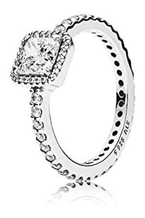 Pandora Women's Ring 925 with timeless elegance - 190947CZ Zirconia White L- L 1/2