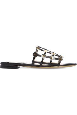 Ernesto Esposito Women Sandals - 10MM CAGE LEATHER SLIDE SANDALS