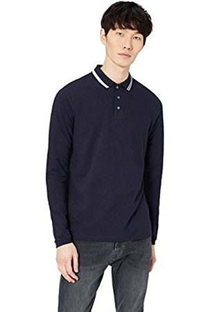 FIND Men's Pique Long Sleeve Polo Shirt