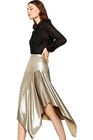 FIND Women's Skirt With Metallic Asymmetrical Frilled Hem