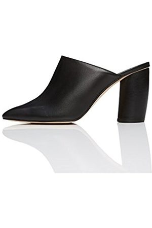 FIND Women's Square Toe Leather Mules