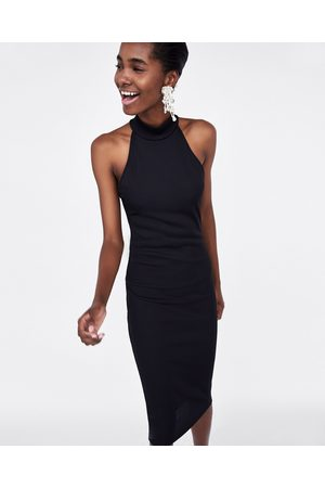 Zara HALTERNECK PENCIL DRESS