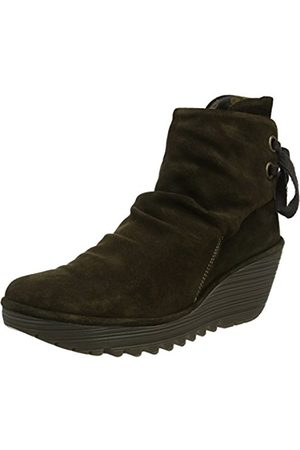 Fly London Women's Yama Oil Suede Boots - (oil suede sludge)