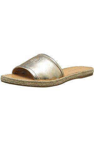 Tommy Hilfiger Women's Metallic Flat Mule Open Toe Sandals