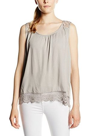 B YOUNG Women's Gismo Lace Top - Regular Fit Sleeveless Blouse