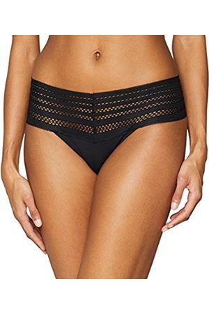 DKNY Intimates Women's Classic Cotton Wide Lace Trim Thong