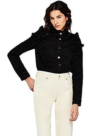 FIND Women's Ruffle Denim Jacket