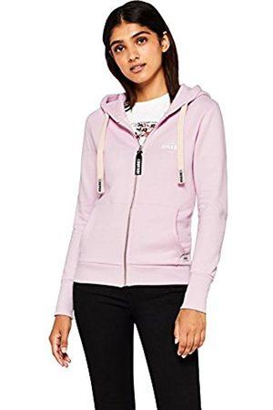 HIKARO Women's Chest Logo Zipped Funnel Sweatshirt