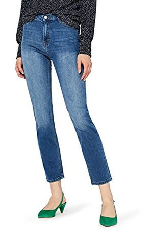 FIND Women's Mid Rise Straight Jeans