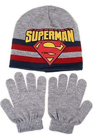 DC Boy's Superman Stripe Scarf, Hat and Glove Set