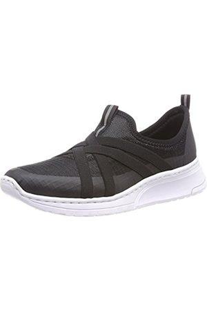 Womens N5050 Slip on Trainers, Black (Black), 3.5 UK Rieker
