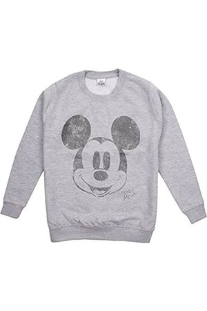 Disney Girl's Mickey Mouse Metallic Face Sweatshirt