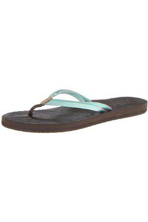 Reef Womens DOUBLE ZEN /AQUA/CORA Flip-Flops multi-coloured Mehrfarbig ( /AQUA/CORA) Size: 36