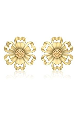 Carissima Gold Women's 9 ct (375) Satin and Polished 9.5 mm Stud Earrings 1.55.8979