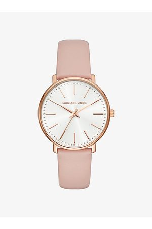 Michael Kors Pyper -Tone Leather Watch