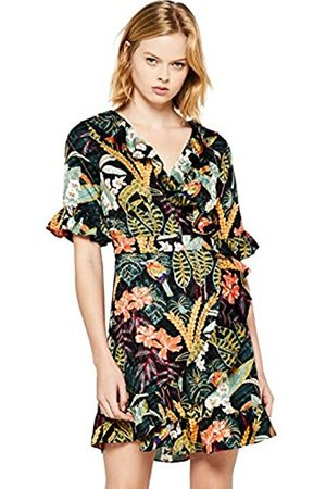FIND Women's Floral Wrap Party Dress