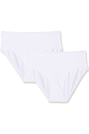 Womens Duo Line Extra FEIN Maxi Slip Full Brief, White (Weiss 010500), 14 Pack of 2 Huber