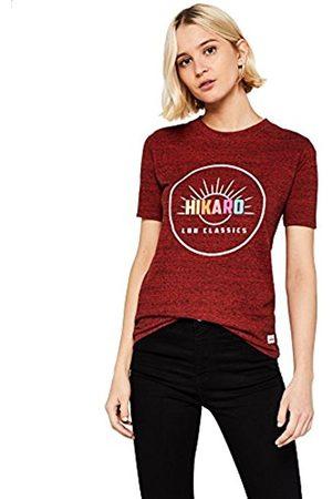 HIKARO Women's Chest Print NEP T-Shirt