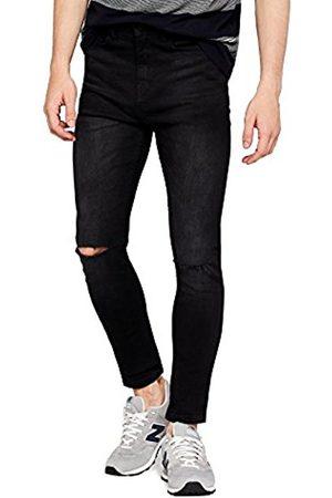 FIND Men's Super Skinny Knee Slit Jeans