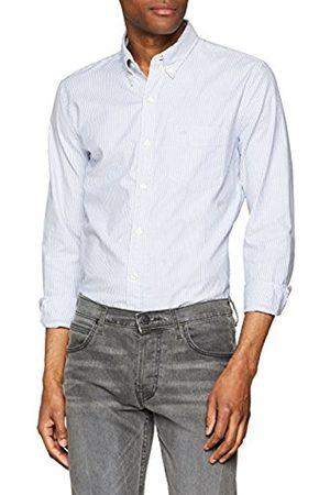 Dockers Men's Stretch Oxford Formal Shirt, (Bengal Stripe-Delft 0002)