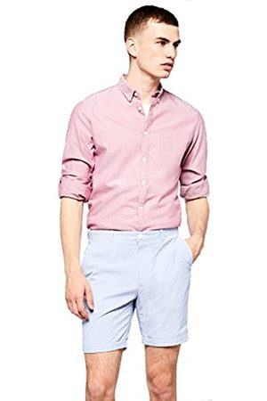 FIND Mens Shorts in Candy Stripe Fabric and Chino Style Regular Fit