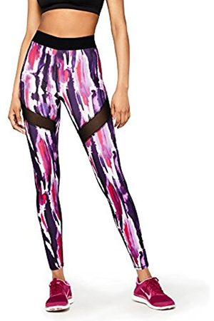 AURIQUE Gym Leggings Women, Multicoloured (Digital Blur)