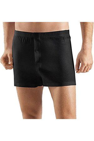 Hanro Men's Sea Island Cotton Boxer Shorts, -Schwarz ( 0019)
