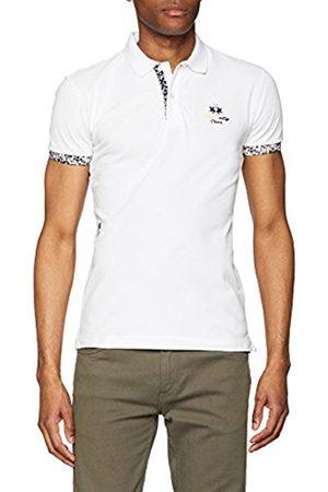 La Martina Men's Man S/S Piquet Stretch Polo Shirt