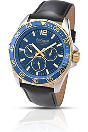 Accurist Men's Quartz Watch with Dial Analogue Display and Leather Strap Ms1041N