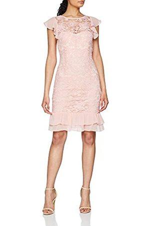 Paper Dolls Women's Crochet Lace Chiffon Ruffle Detail Dress