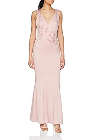 Little Mistress Women's Rose V-Neck Maxi Party Dress