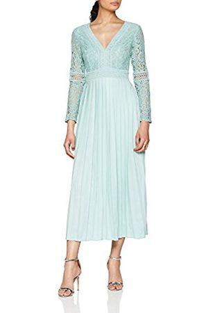 Little Mistress Women's Spearmint Lace Party Dress