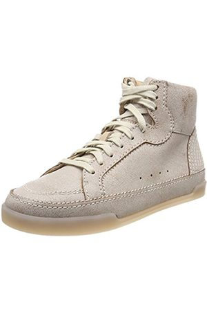 Womens Hidi Haze Hi-Top Sneakers, Beige, 3.5 UK Clarks