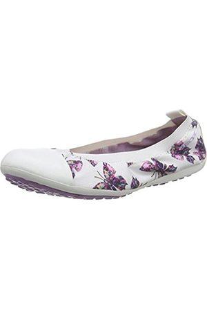 Geox Girls' Jr Piuma Ballerine B Ballet Flats White Size: 4 UK