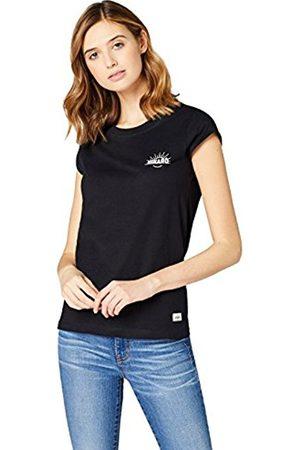 HIKARO Women's Chest Logo V-Neck T-Shirt