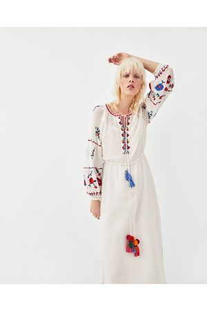 Zara TUNIC DRESS WITH COLOURED EMBROIDERY