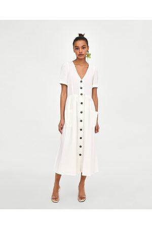 a0051f9177c Zara summer women s midi dresses