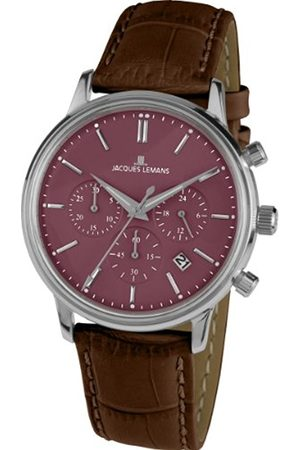 Jacques Lemans Men's Analogue Quartz Watch with Leather Strap 1-209E