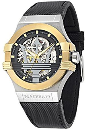 Maserati Men's Analogue Automatic Watch with Leather Strap – R8821108011