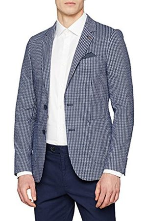Burton Men's Seersucker Check Blazer, (Navy)